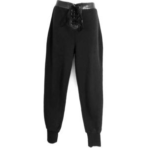 Romeo and Juliet couture lace up sweats